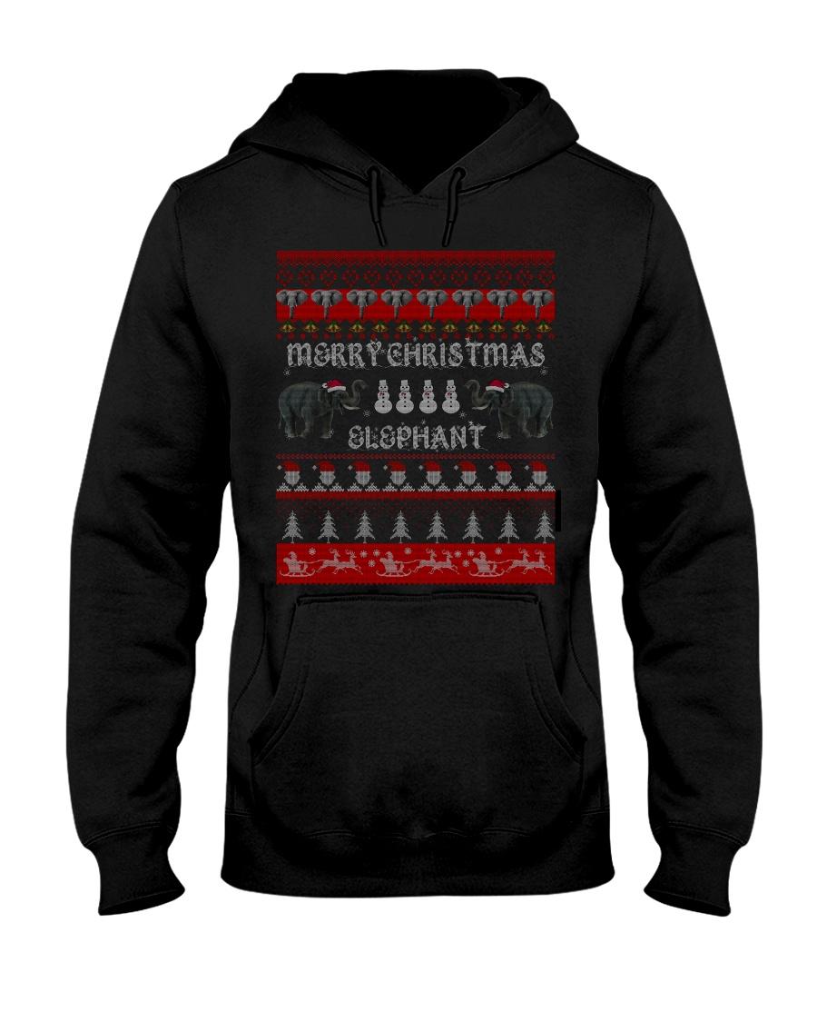 Elephant Ugly Christmas Sweater Shirt Hoodie Gifts Hooded Sweatshirt