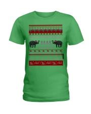 Elephant Ugly Christmas Sweater Shirt Hoodie Gifts Ladies T-Shirt thumbnail
