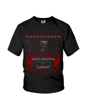 Elephant Ugly Christmas Sweater Shirt Hoodie Gifts Youth T-Shirt thumbnail