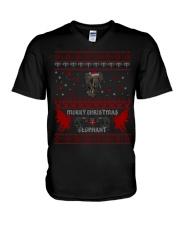 Elephant Ugly Christmas Sweater Shirt Hoodie Gifts V-Neck T-Shirt thumbnail