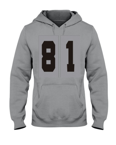 Print Sports Jersey 81Throwback Hoodie
