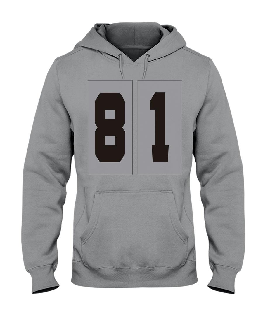 Print Sports Jersey 81Throwback Hoodie Hooded Sweatshirt