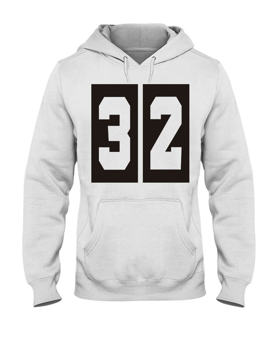 Print Sports Jersey 32 Throwback Hooded Sweatshirt