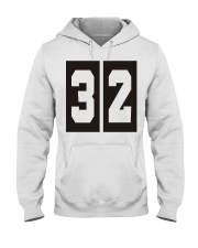Print Sports Jersey 32 Throwback Hooded Sweatshirt front
