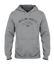 Bowling Addicts 300 Game Hall of Fame Hoodie Hooded Sweatshirt front