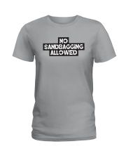 No Sandbagging Allowed by Bowling Addicts Ladies T-Shirt front