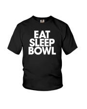 Eat Sleep Bowl by Bowling Addicts Youth T-Shirt thumbnail
