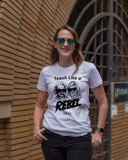 Teach Like a Rebel -- Curio Learning Premium Fit Ladies Tee lifestyle-women-crewneck-front-2
