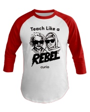 Teach Like a Rebel -- Curio Learning Baseball Tee thumbnail