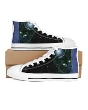 Love cat  Men's High Top White Shoes inside-left-outside-left