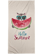 Hello summer - cat watermelon Premium Beach Towel front