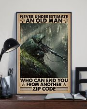 Never underestimate who can end you - zip code 11x17 Poster lifestyle-poster-2