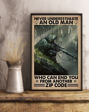 Never underestimate who can end you - zip code 11x17 Poster lifestyle-poster-3