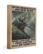 Never underestimate who can end you - zip code 11x14 Gallery Wrapped Canvas Prints thumbnail