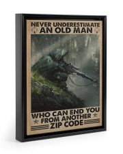 Never underestimate who can end you - zip code 11x14 Black Floating Framed Canvas Prints thumbnail