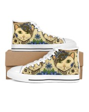 Cat love - Shoes 03 Women's High Top White Shoes inside-left-outside-left