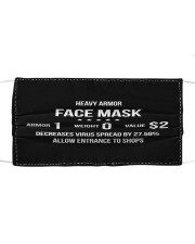 Heavy armor Cloth face mask front