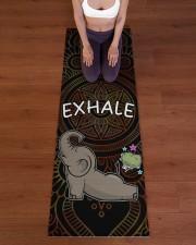 Exhale - Elephant Yoga Yoga Mat 24x70 (vertical) aos-yoga-mat-lifestyle-24