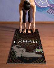 Exhale - Elephant Yoga Yoga Mat 24x70 (vertical) aos-yoga-mat-lifestyle-25