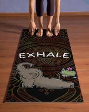Exhale - Elephant Yoga Yoga Mat 24x70 (vertical) aos-yoga-mat-lifestyle-26