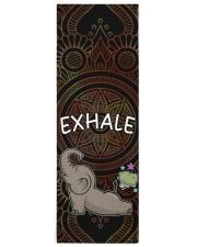 Exhale - Elephant Yoga Yoga Mat 24x70 (vertical) front