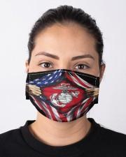 Flag veteran Cloth face mask aos-face-mask-lifestyle-01