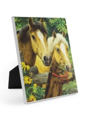 Love Horse Easel-Back Gallery Wrapped Canvas tile