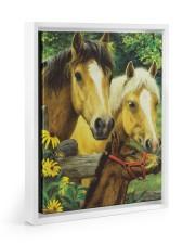Love Horse Floating Framed Canvas Prints White tile