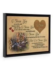 You and me we got this - Deer Floating Framed Canvas Prints Black tile