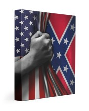 Flag love 11x14 Gallery Wrapped Canvas Prints front