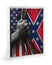 Flag love 11x14 White Floating Framed Canvas Prints thumbnail