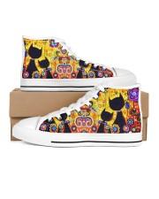 Cat love  Women's High Top White Shoes inside-left-outside-left