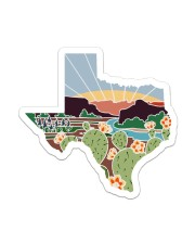 Texas Lover Sticker - Single (Vertical) front