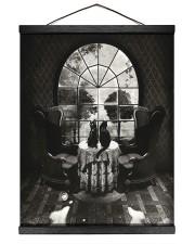 Skull - Black cat 16x20 Black Hanging Canvas thumbnail