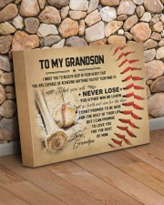 To my grandson - Grandpa - Baseball 14x11 Gallery Wrapped Canvas Prints aos-canvas-pgw-14x11-lifestyle-front-18