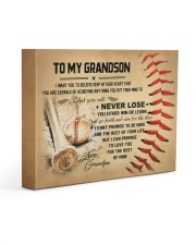 To my grandson - Grandpa - Baseball 14x11 Gallery Wrapped Canvas Prints front