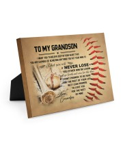 To my grandson - Grandpa - Baseball 10x8 Easel-Back Gallery Wrapped Canvas thumbnail