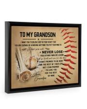 To my grandson - Grandpa - Baseball 14x11 Black Floating Framed Canvas Prints thumbnail