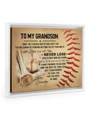 To my grandson - Grandpa - Baseball 14x11 White Floating Framed Canvas Prints thumbnail