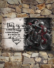 This is us - Motorcycles Skull 17x11 Poster aos-poster-landscape-17x11-lifestyle-16