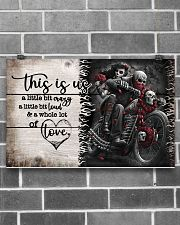This is us - Motorcycles Skull 17x11 Poster poster-landscape-17x11-lifestyle-18