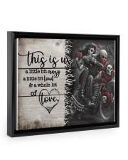 This is us - Motorcycles Skull 14x11 Black Floating Framed Canvas Prints thumbnail
