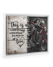 This is us - Motorcycles Skull 14x11 White Floating Framed Canvas Prints thumbnail