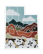 Utah Love Sticker - Single (Vertical) front