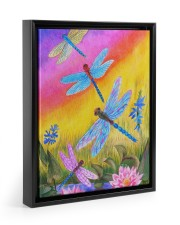 Dragonfly  11x14 Black Floating Framed Canvas Prints thumbnail