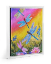 Dragonfly  11x14 White Floating Framed Canvas Prints thumbnail