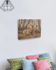 And so together - Deer love 14x11 Gallery Wrapped Canvas Prints aos-canvas-pgw-14x11-lifestyle-front-02