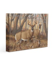 And so together - Deer love 14x11 Gallery Wrapped Canvas Prints front