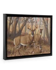 And so together - Deer love 14x11 Black Floating Framed Canvas Prints thumbnail