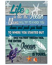 is like the ocean waves will try to knock you  11x17 Poster front